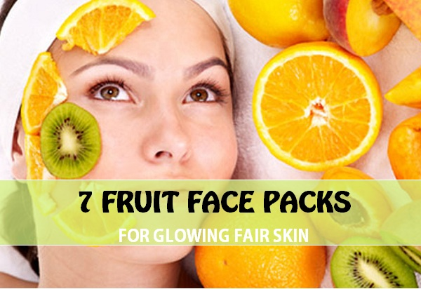 fruit face packs for glow fairness