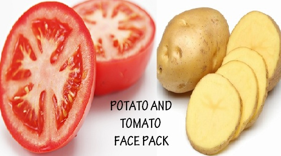 potato and tomato face pack