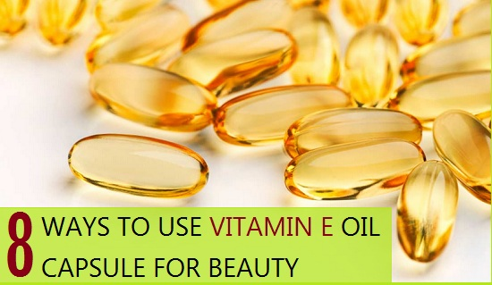 Vitamin E Oil Capsule for Beauty