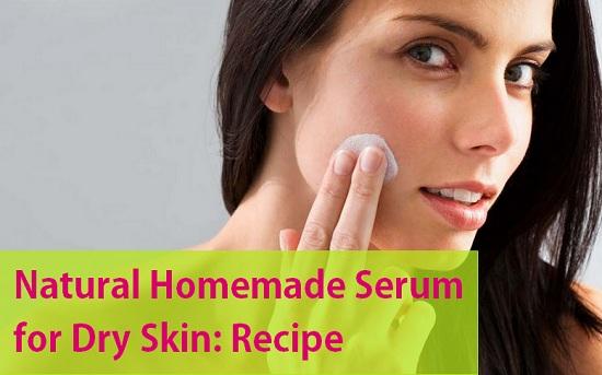 Natural Homemade Serum for Dry Skin
