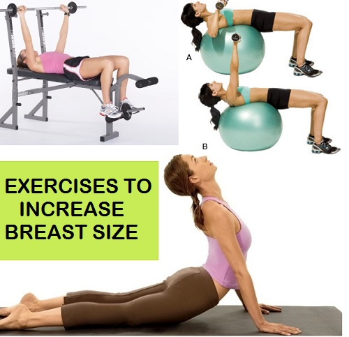 Natural Ways to Increase Breast Size awith exercises