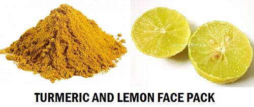 turmric and lemon face pack for tanned skin on face, feet hands