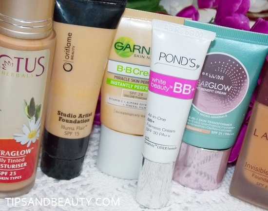 BB cream makeup products for beginner
