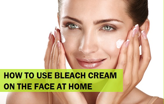 how to use bleach cream at home