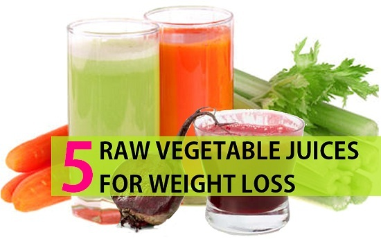 raw vegetable juices to lose weight