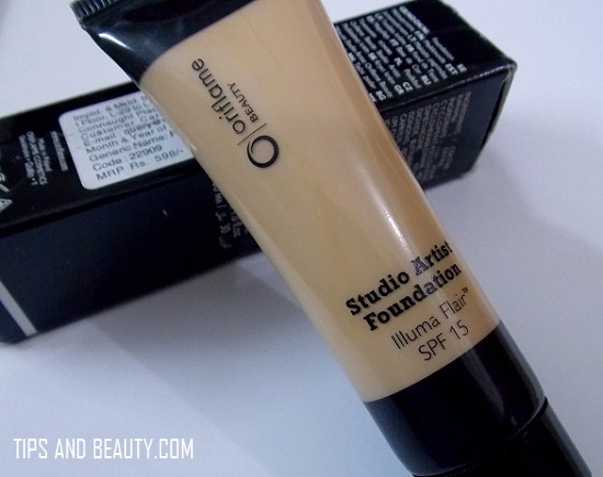 Oriflame Studio Artist Foundation Review Olive Beige