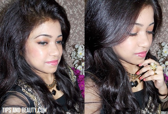 simple light makeup for eid and indian traditional wear 2015