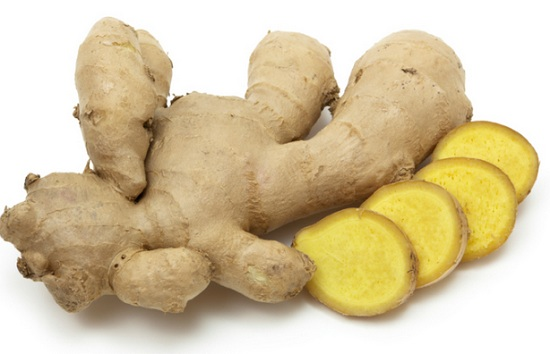 Natural Kitchen Products for Acne Pimple Free Skin ginger