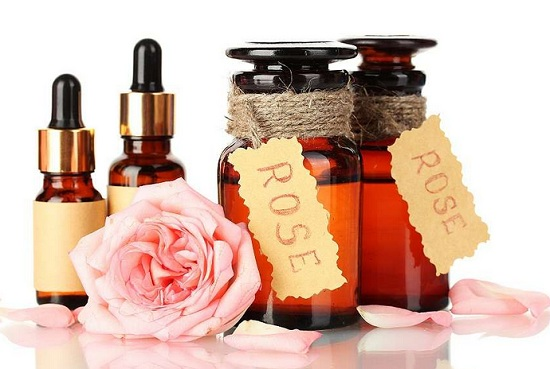 Essential oils for skin whitening and brightening rose oil