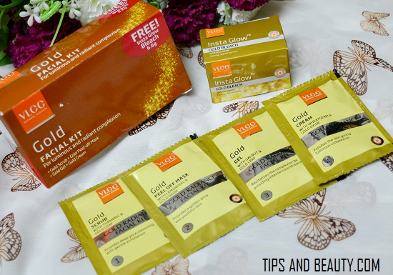 VLCC gold facial kit review