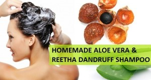 reetha and aloe vera gel dandruff homemade shampoo