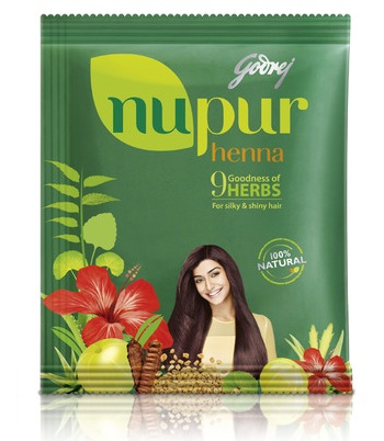 godrej nupur henna powder with 9 herbs