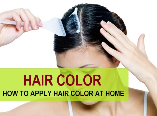 how to apply hair color at home TIPS