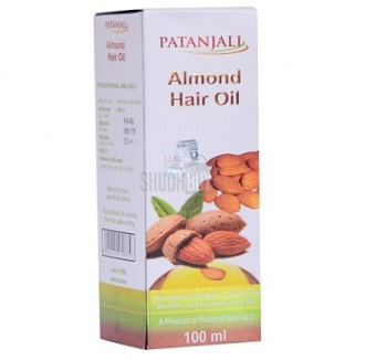 almond oil 5 Best Patanjali products for hair growth, hair fall, hair loss