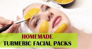 homemade turmeric facial packs