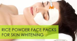 rice powder face packs for skin whitening
