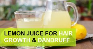 lemon juice for hair growth and dandruff