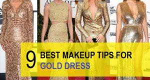 Best makeup ideas for gold dress