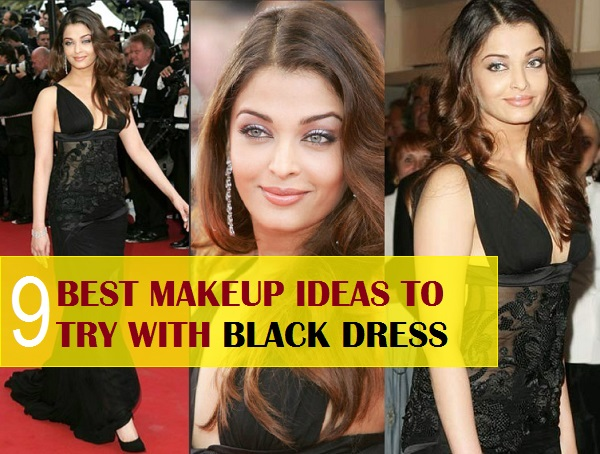 what makeup to do with black dress