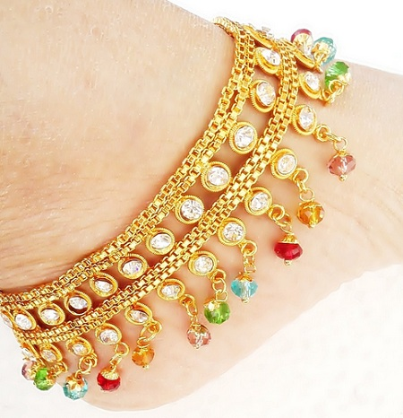 Bridal anklet designs stylish