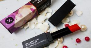 SUGAR vivid matte lipstick in coraline the city shades