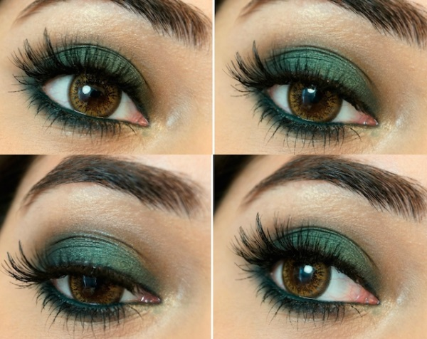 makeup for green dress