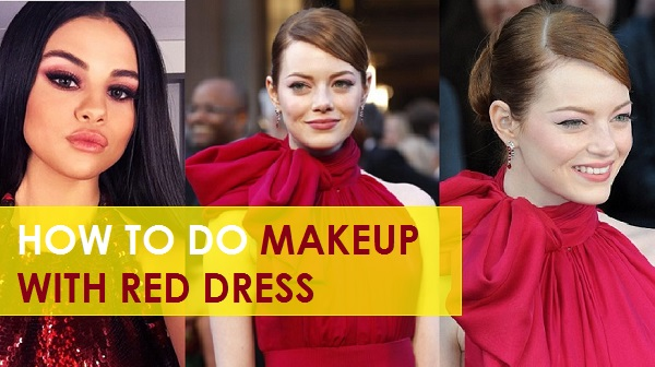 what makeup with red dress