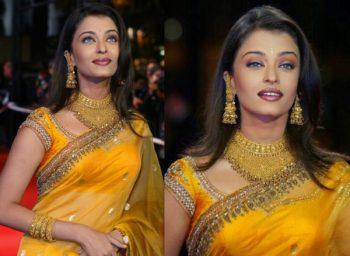 makeup for yellow dress aishwarya