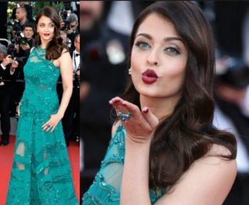 Aishwarya Rai makeup for green dress prom
