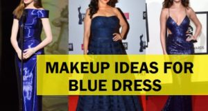 what makeup to do with blue dress