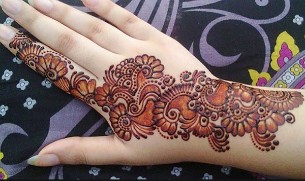 Arabic Floral Henna Design for Hands