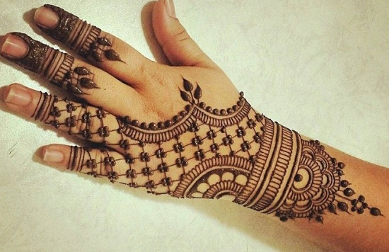 Dotted Bangle Arabic Mehndi Style