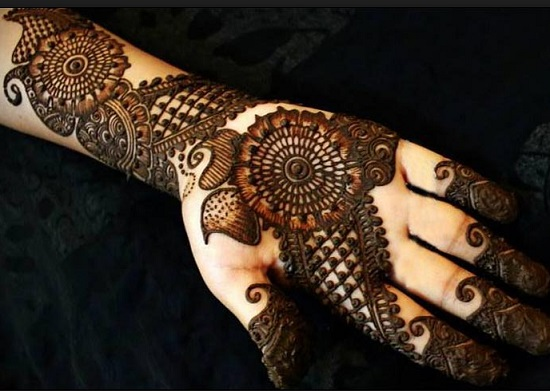 Arabic Flower Mehndi Designs for Hands