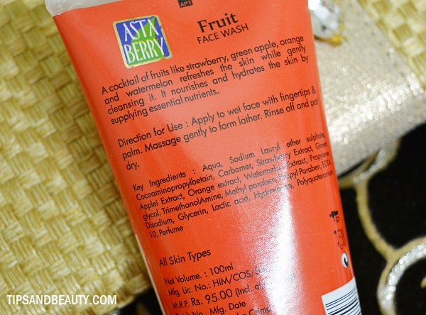 astaberry fruit face wash review 2