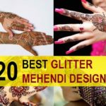 20 Latest Glitter Mehendi Designs for Hands, Feet and Arms