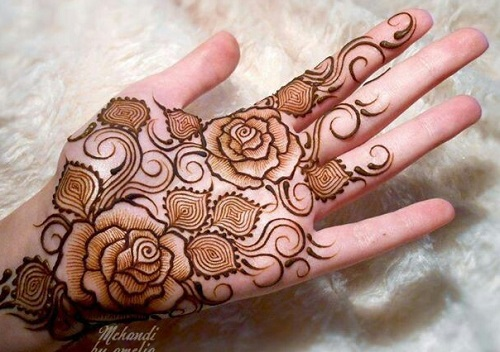 Arabic Big Flower Mehndi Designs Flowers Healthy