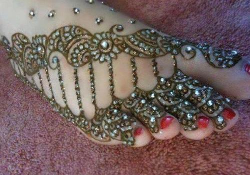 glitter mehendi design