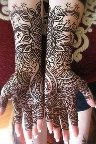 peacock mehendi designs 1
