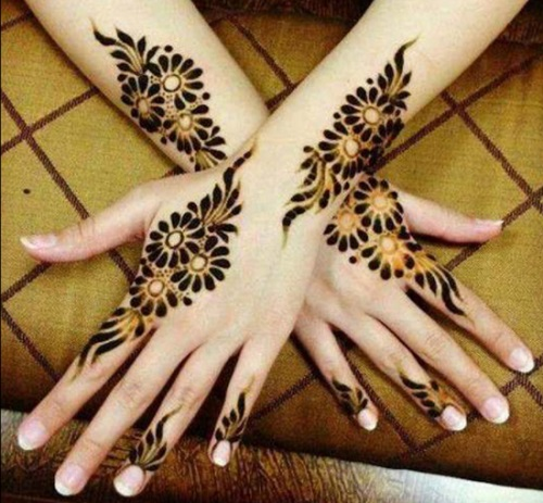 single line mehendi