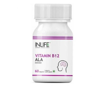 INLIFE Vitamin B12 + ALA Hair Growth Supplement