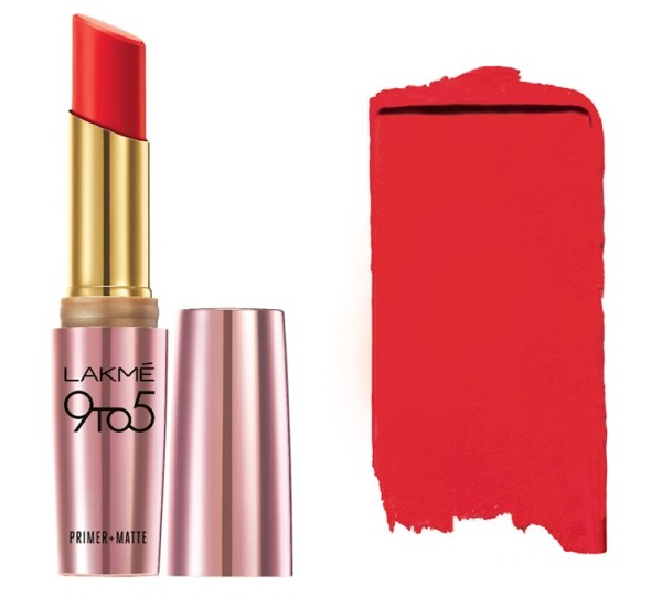 Lakme 9 to 5 Primer + Matte Lip Color - MR9 Red Letter