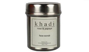 Khadi Natural Rose & Papaya Face Scrub