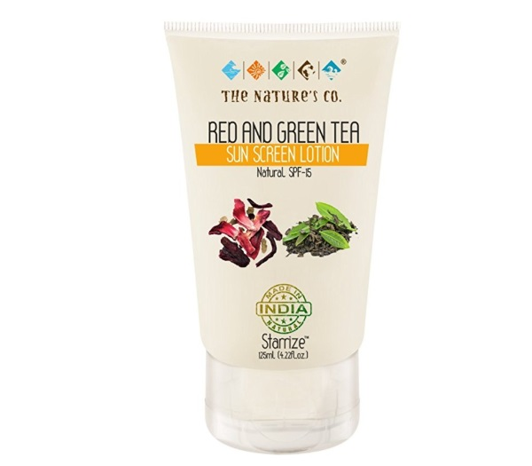 The Nature's Co Red and Green Tea Sunscreen
