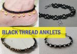 15 Latest Black Thread Anklet Designs For Girls