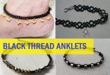 best black thread anklet design