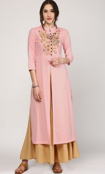 Embroidered Trendy Formal Kurta for Ladies