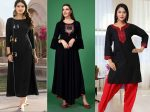 14 Latest Black Kurta Designs for Women