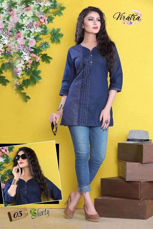 denim kurta and jeans