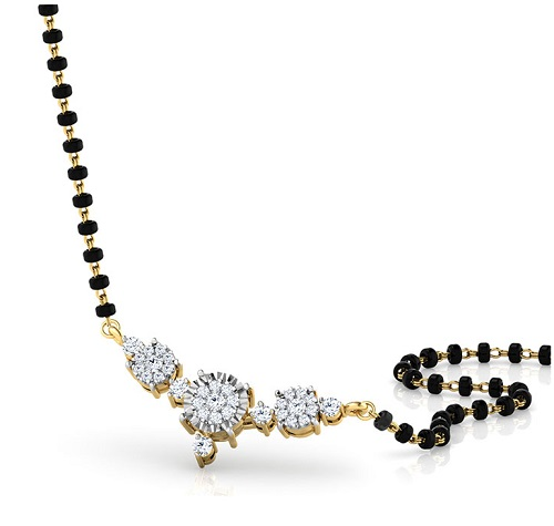 Latest Diamond Mangalsutra Designs