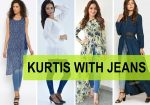 10 Designer Kurtis with Jeans For Women